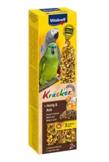Vitakraft Bird Kräcker parrot African  honey  tyč 2ks