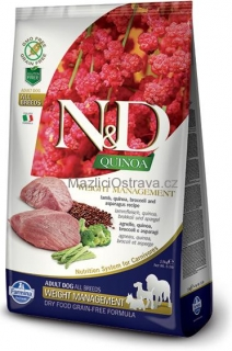 N&D GF Quinoa DOG Weight Management Lamb & Broccoli 800 g