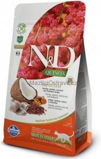 N&D GF Quinoa CAT Skin&Coat Herring & Coconut 300 g
