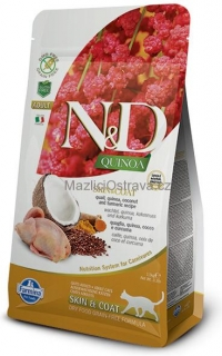 N&D GF Quinoa CAT Skin&Coat Quail & Coconut 300 g