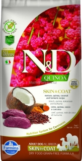N&D GF Quinoa DOG Skin & Coat Venison & Coconut 800 g