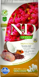 N&D GF Quinoa DOG Skin & Coat Quail & Coconut 2 x 7 kg