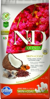 N&D GF Quinoa DOG Skin&Coat Herring & Coconut 2x7kg