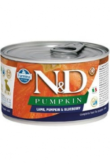 N&D DOG PUMPKIN Puppy Lamb & Blueberry Mini 140g