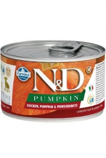 N&D DOG PUMPKIN Puppy Chicken & Pomegranate Mini 140g