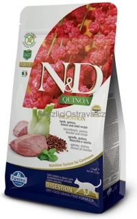 N&D GF Quinoa CAT Digestion Lamb & Fennel 1.5 kg