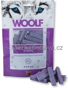 Woolf Soft Bluebbery Strips 100 g