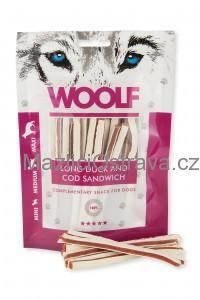 WOOLF Duck and Pollock Sandwich LONG 100g