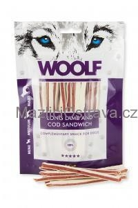 WOOLF Soft Lamb and Cod Sandwich LONG 100g